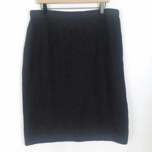 St. John Santana Knit gray straight skirt